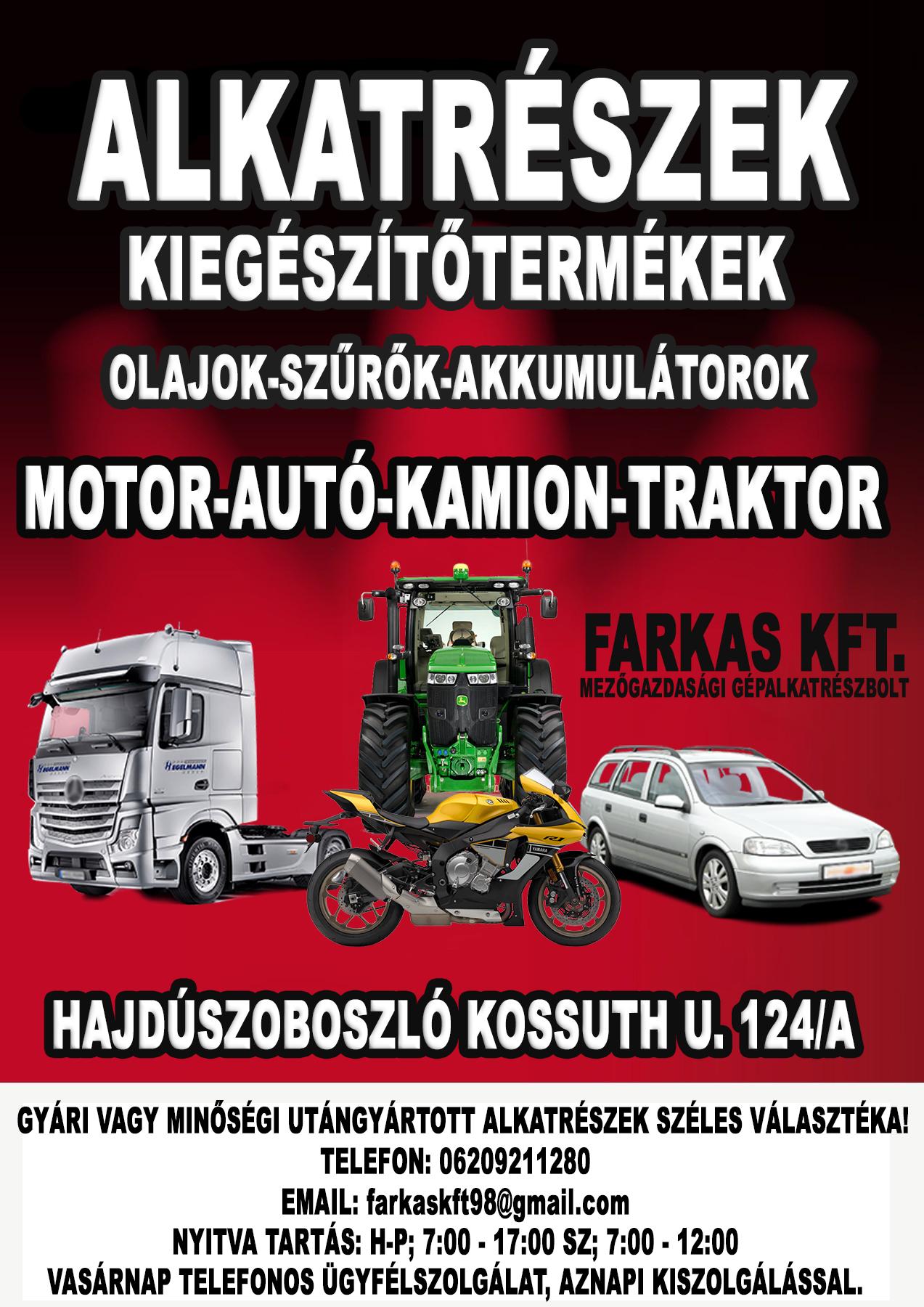 Autó Motor Kamion Traktor és Mezőgazdasági Alkatrészek Kedvező Áron