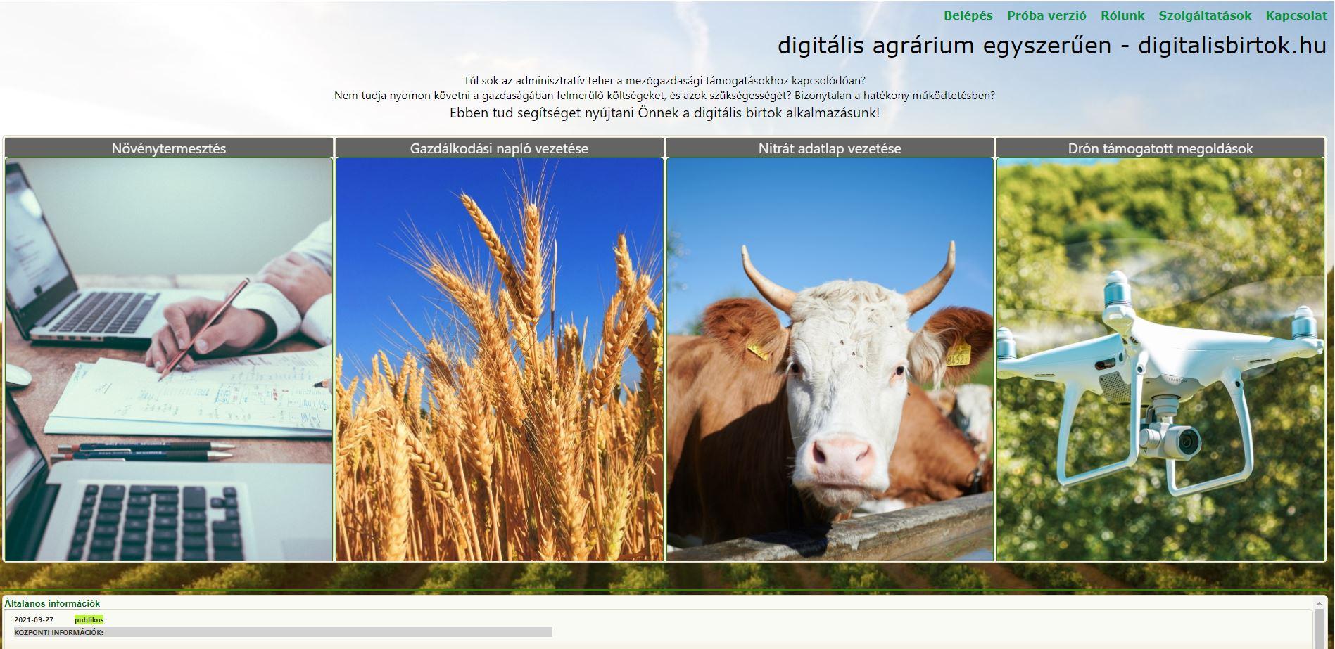 E-nyilvántartás növénytermesztés, gazdálkodási napló, nitrát adatlap, drón monitoring